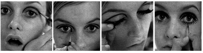 Twiggy-applying-makeup