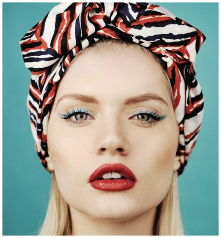 turbante vermelho